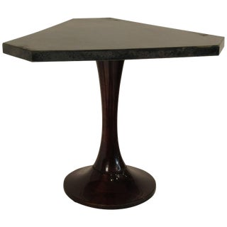 1960s Goatskin Drink Table on Wood Base For Sale