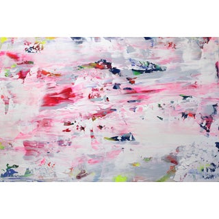 "Abstract Original Artwork, ""Candy Puff"" by Amber Goldhammer For Sale"