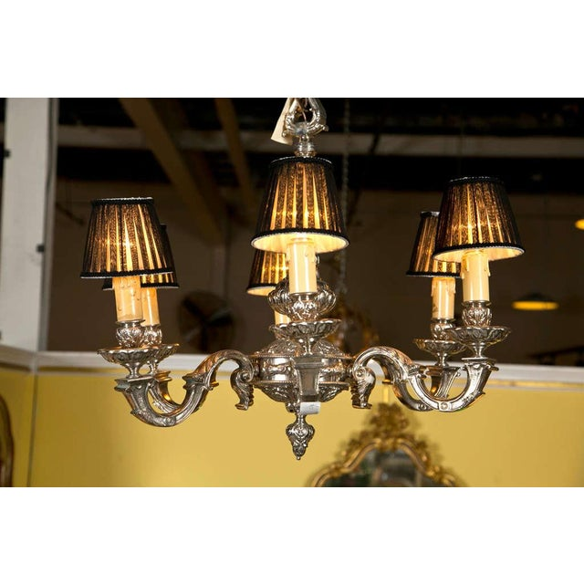 19th Century Silvered Bronze Chandelier - Image 2 of 9