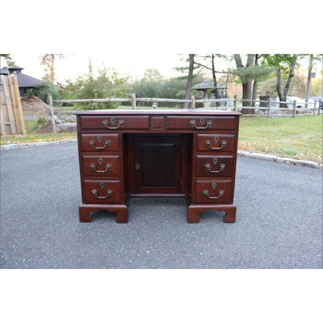 George III Mahogany Kneehole Desk - Image 2 of 11