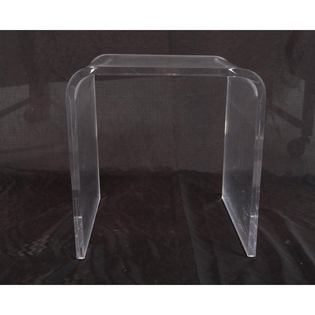 Shlomi Haziza Lucite Nesting Tables - Set of 3 For Sale In Providence - Image 6 of 12