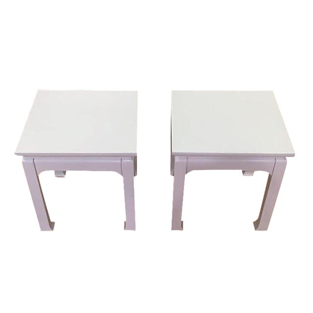 White Lacquered Tea Tables - A Pair - Image 1 of 4