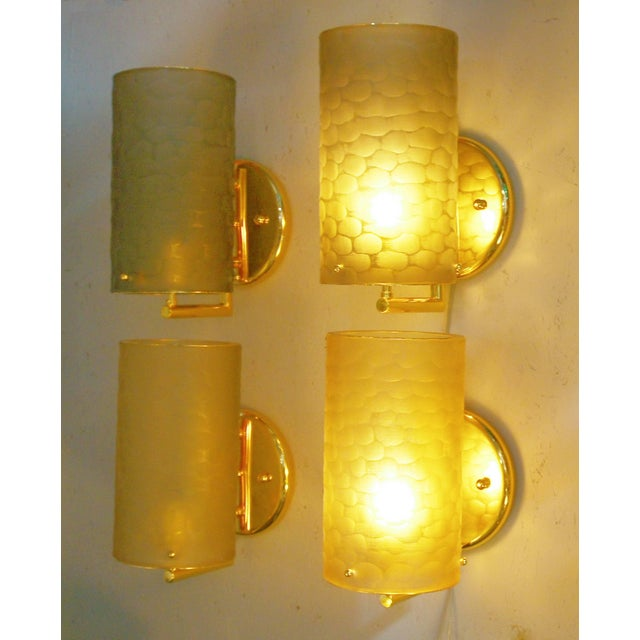 Italian Two Pairs of Battuto Sconces by Fabio Ltd For Sale - Image 3 of 11