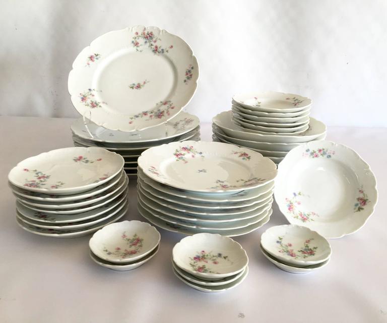 Limoge France \ Scattered Roses\  Dinnerware 1920s - Set of 42 - Image 2  sc 1 st  Chairish & Limoge France \