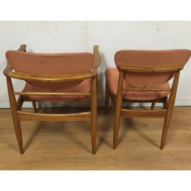 Finn Juhl Style Dining Chairs - Set of 6 For Sale - Image 5 of 11