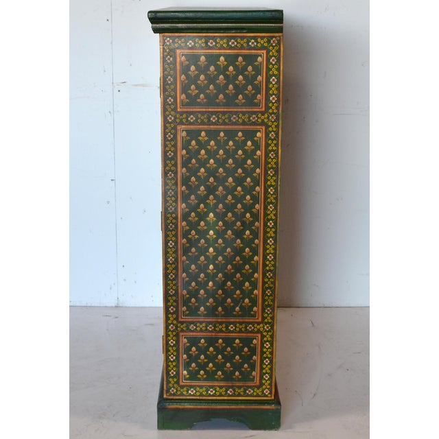 Vintage Indian Painted Wooden Cabinet For Sale - Image 4 of 8