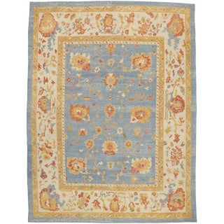 Contemporary Turkish Oushak Rug - 11′10″ × 15′9″ For Sale