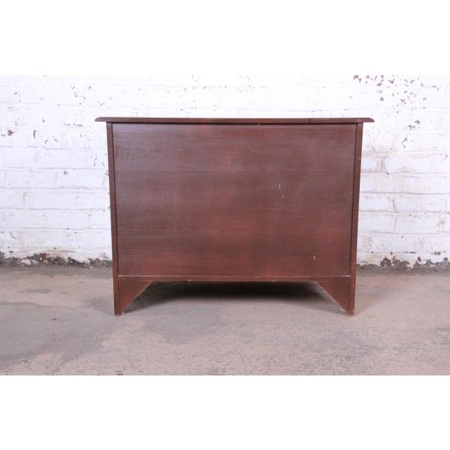Baker Furniture Burled Walnut Bombay Chest Commode For Sale - Image 11 of 13