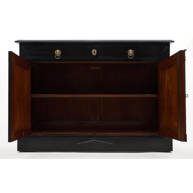 Brass Ebonized Directoire Style Buffet For Sale - Image 7 of 11