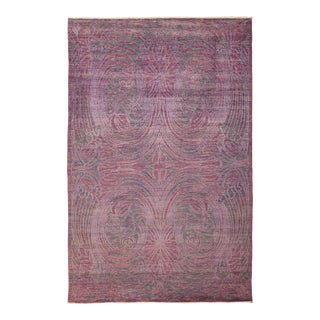 """One-of-a-Kind Contemporary Hand-Knotted Area Rug 5' 10"""" x 9' 0"""" For Sale"""
