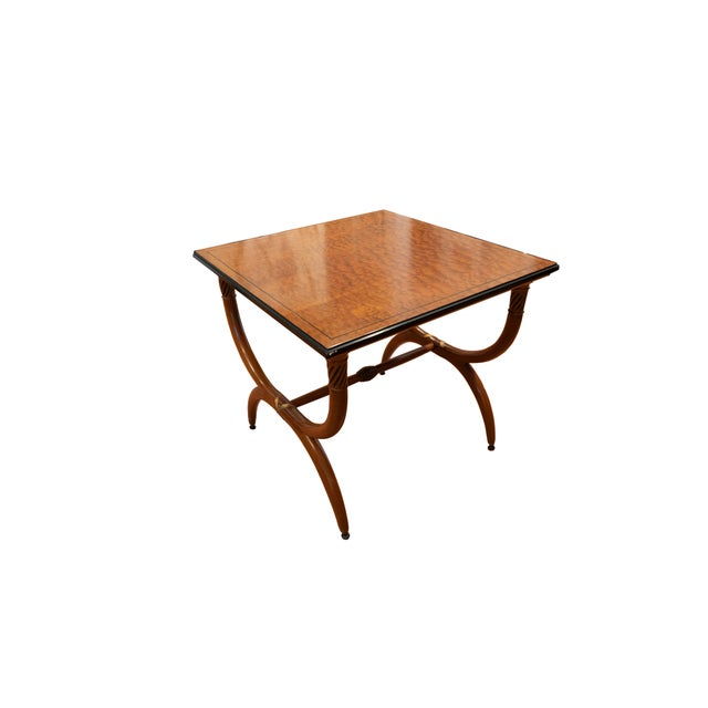 """Two wonderful Robsjohn-Gibbins tables, square: 31""""x31"""" x 28""""1/4 hight. Unrestored, with a handful of minor blemishes...."""