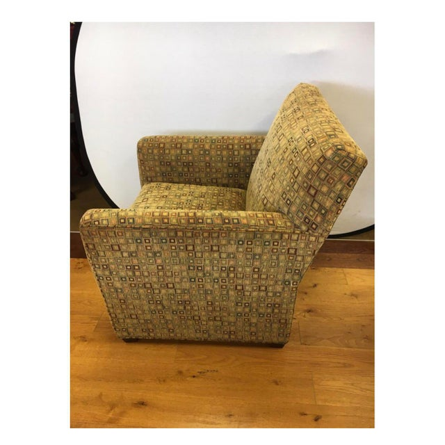 Maurice Villency Maurice Villency Mid-Century Modern Upholstered Arm Club Chair For Sale - Image 4 of 10