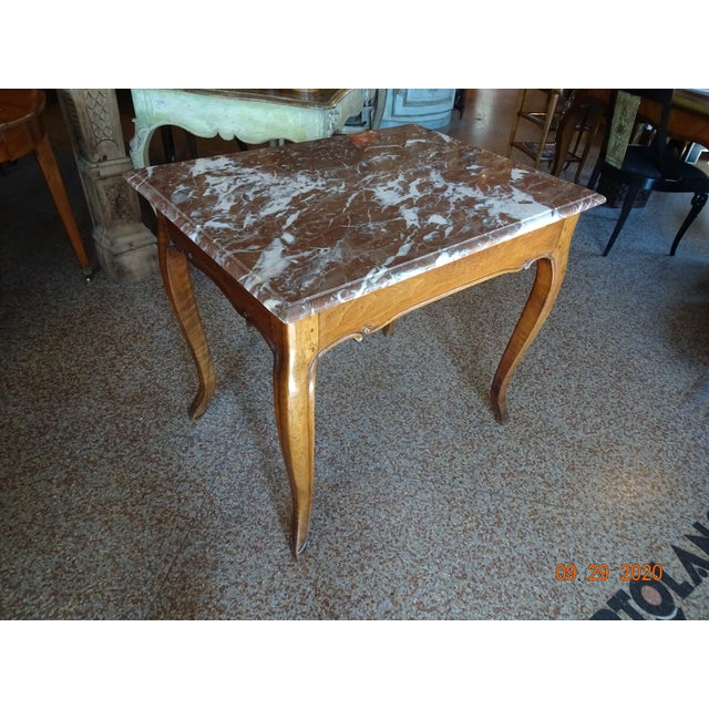 19th Century French Marble Top Table For Sale - Image 12 of 12