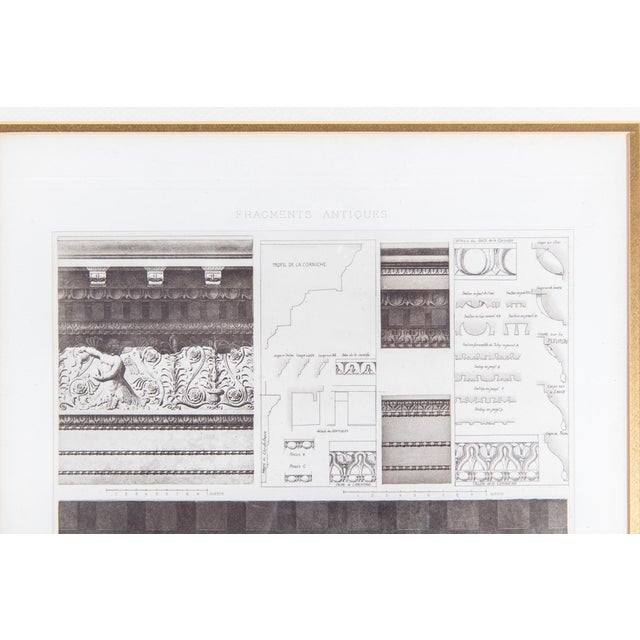 Mid-20th Century Architectural Lithograph With Giltwood Frame - Set of 3 For Sale - Image 9 of 13
