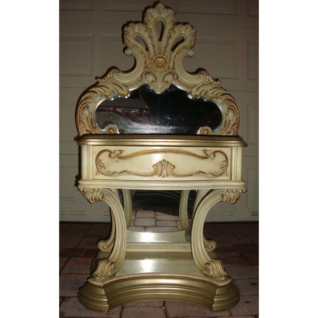 Hollywood Regency Mirrored Commodes - a Pair For Sale - Image 10 of 11