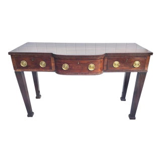 English Georgian Chippendale Mahogany Server For Sale