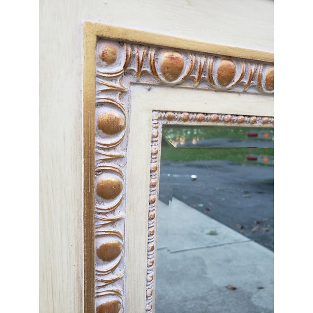 Wood VintageFrench Provincial Style Mirror For Sale - Image 7 of 13