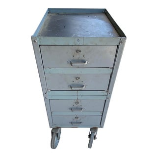 Vintage Lyon 4 Drawer Rolling Cart For Sale