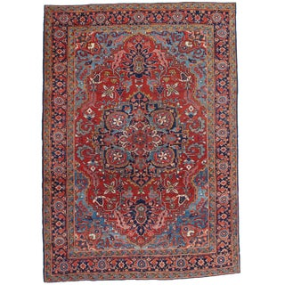 "Pasargad Antique Persian Heriz Area Rug - 6'6"" X 9'2"" For Sale"