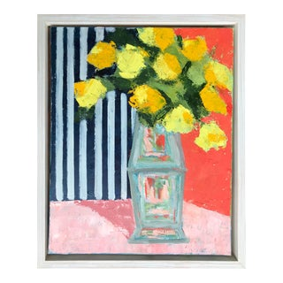 Yellow Bouquet Framed Painting For Sale