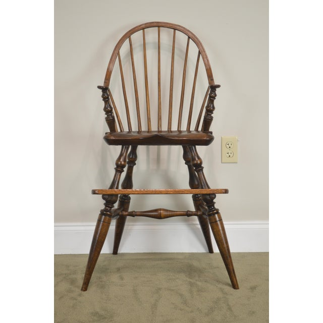 Traditional Windsor Style Childs Youth Arm Chair by K. Malone (18th Century Reproduction) For Sale - Image 3 of 13