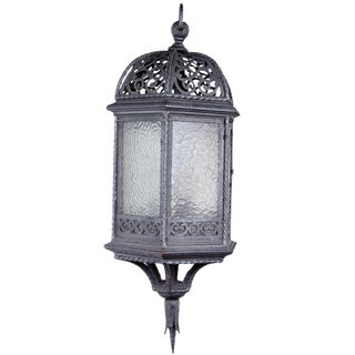 Early 20th Century Old Wrought Iron Lantern For Sale