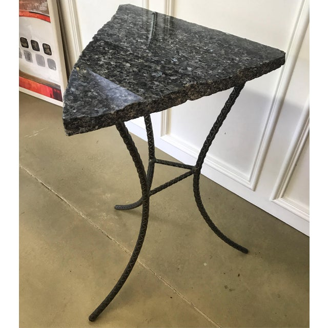 Unique Custom Granite Accent Table - Image 2 of 4