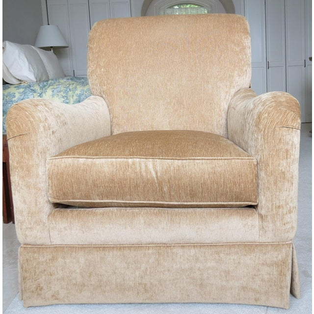 King Hickory Furniture Gold Fabric Chair - Image 2 of 5