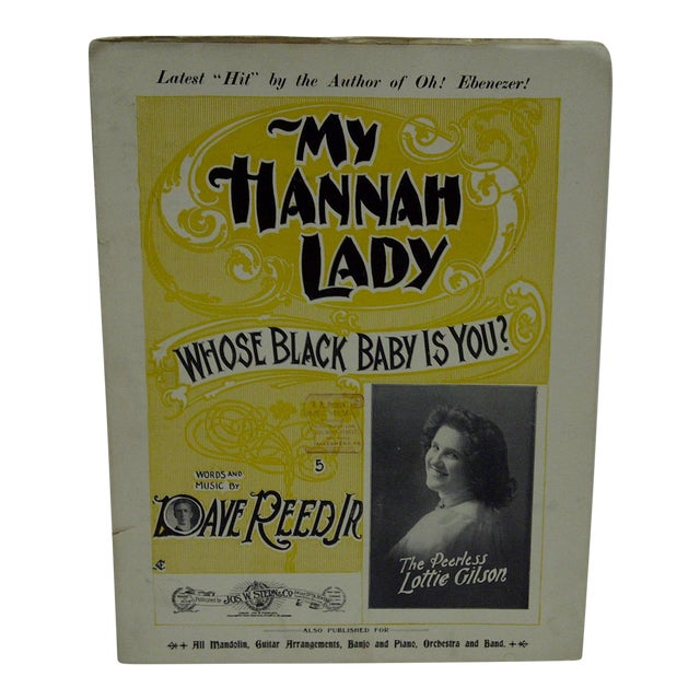 "Vintage ""My Hannah Lady"" Sheet Music For Sale"