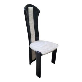 Italian Modern Black Lacquer Chair For Sale