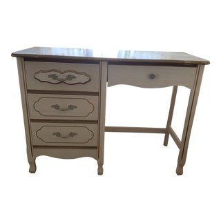 Midcentury French Provincial Desk and Chair For Sale