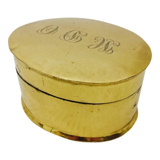 Antique Engraved Brass Box