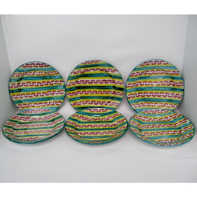 Rustic Italian Salad Plates - Set of 6 For Sale - Image 3 of 7