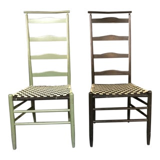 Late 19th Century Antique Nichols and Stone Arts and Crafts Chairs - A Pair For Sale