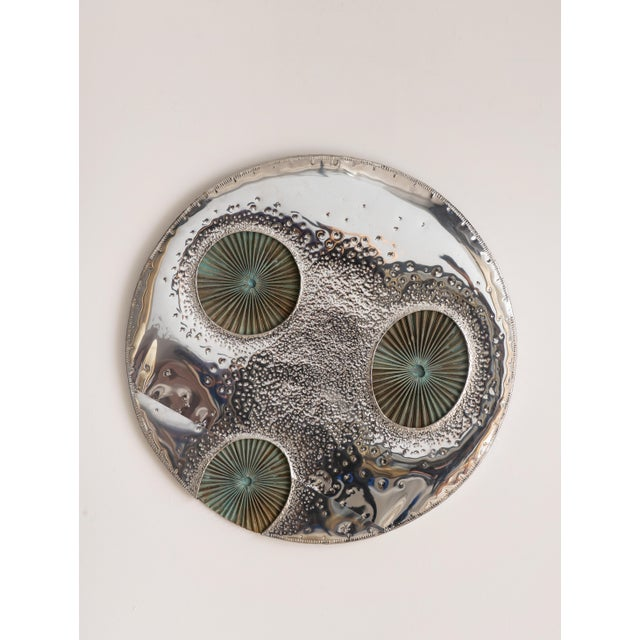 1960s 1960s Chrome and Copper Moon Wall Sculpture by Don Freedman For Sale - Image 5 of 5