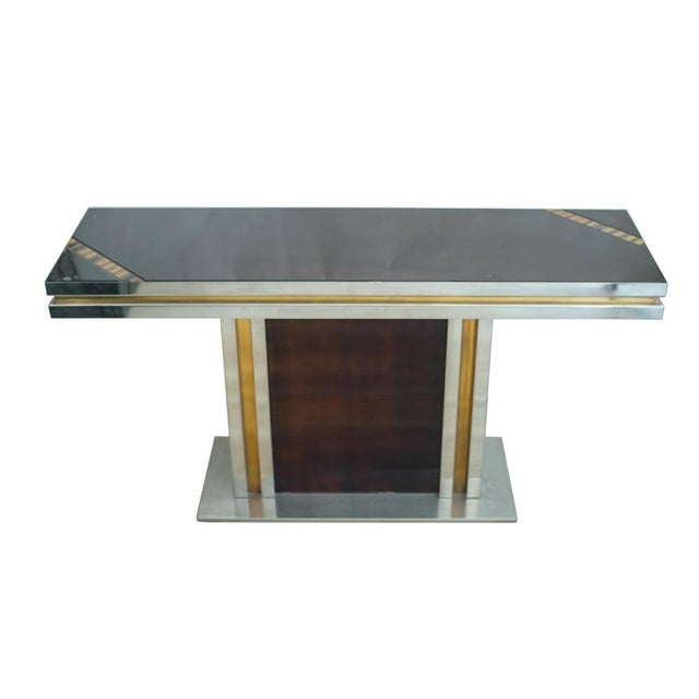 Romeo Rega Romeo Rega Glass Top Console For Sale - Image 4 of 7