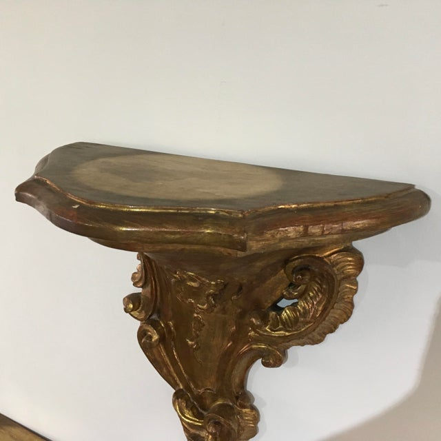 19th Century Rococo Gilt Wall Shelves - a Pair For Sale - Image 10 of 12