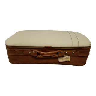 Vintage Suitcase Upcycled Ottoman