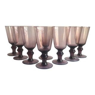 Vintage Plum Glasses, Set of 8 For Sale