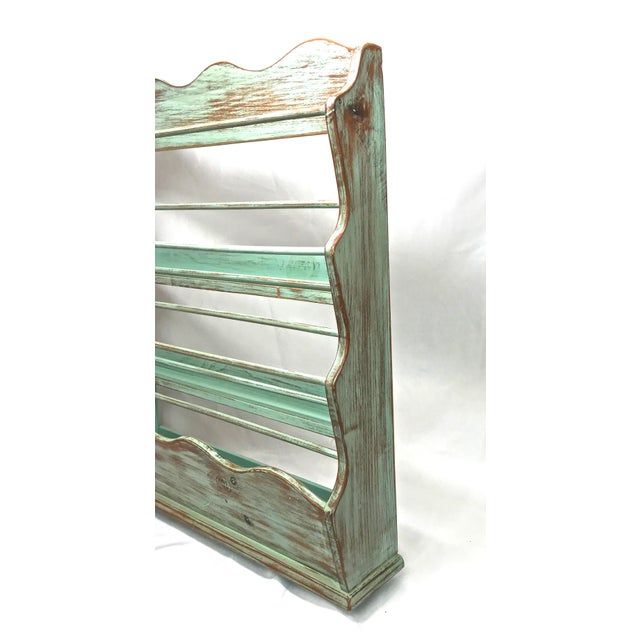 French Shabby Chic-Style Wall Plate Rack For Sale - Image 3 of 9