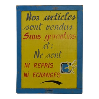 Yellow & Blue French Store Sign