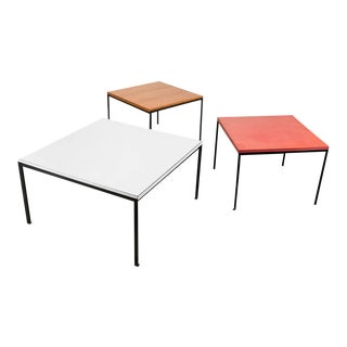 Early Trio of T-Angle Coffee Tables by Florence Knoll, 1960s For Sale