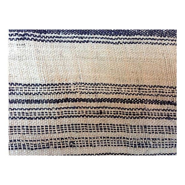 Homespun Striped Linen Fabric - 10.5 Yards - Image 2 of 4