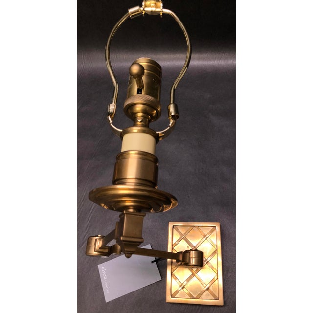 "Lights Alexa Hampton ""Gene Swing Arm"" Wall Lamp for Visual Comfort For Sale - Image 7 of 10"