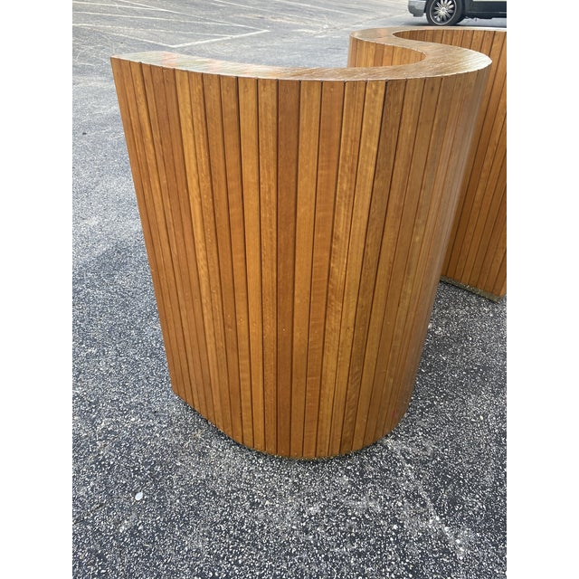 Metal Custom Mid-Century Curved Table Base For Sale - Image 7 of 9