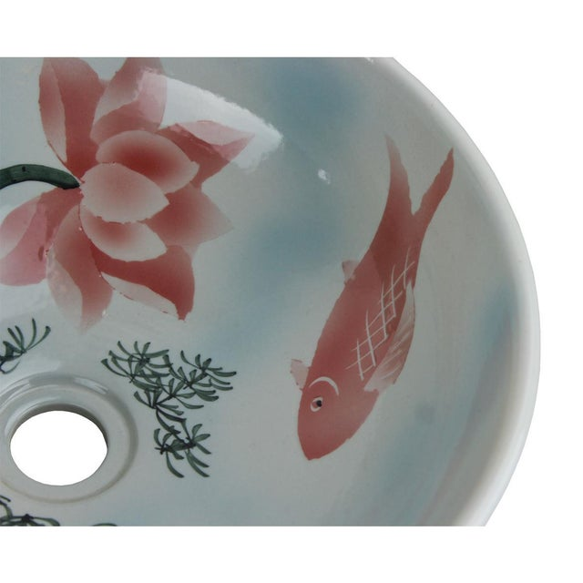 Pasargad DC Modern Multi-Color Motif Sink Bowl For Sale - Image 4 of 6