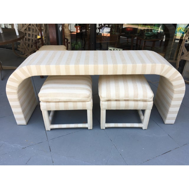 Vintage 1970s Waterfall Console Table - Image 2 of 11