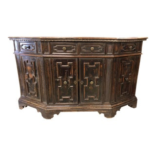 Spanish Rustic Console Cabinet For Sale