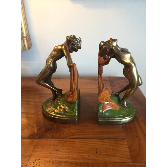 1920s Vintage 1920s Bronze Dancer Bookends - A Pair For Sale - Image 5 of 7