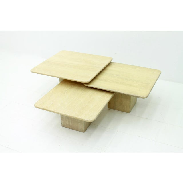 Set of Three Italian Travertine Side Tables 1970s For Sale - Image 13 of 13